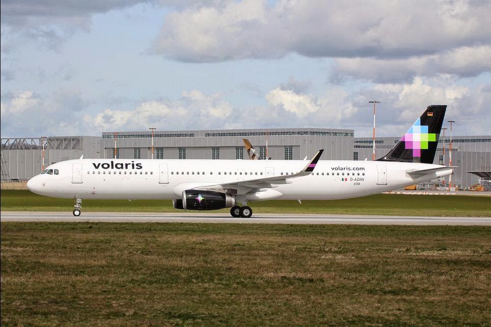 Dr Samuel Banda: Primeras imágenes del primer A321 de Volaris