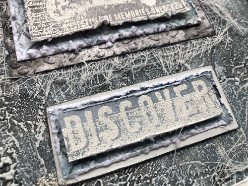 Vintage Neutrals with PaperArtsy / Seth Apter stamps by Nikki Acton