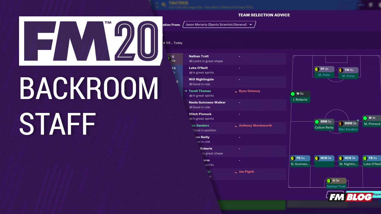 FM20 New Features - Backroom Staff