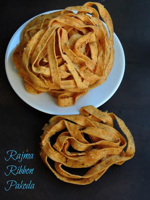 Red Kidney Beans Ola Pakoda, Rajma Ribbon Pakoda
