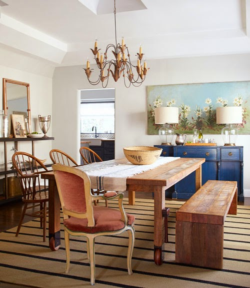 Country Dining Room: Mix And Chic: Home Tour- A Rustic And Charming California