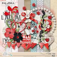 "Kit : ""I Love You"" Freebie Kit by Palvinka Designs"