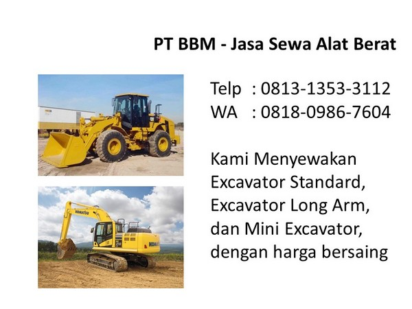 rental alat berat excavator bandung dan jakarta