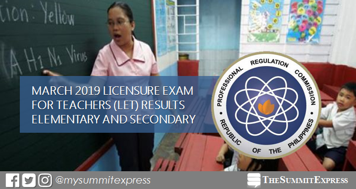 FULL RESULTS: March 2019 LET teachers board exam list of passers, top 10
