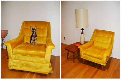 An ugly chair became so stylish, just by removing the skirt and ...
