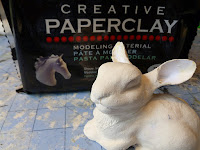 finishing animal sculpture built on papercraft armature