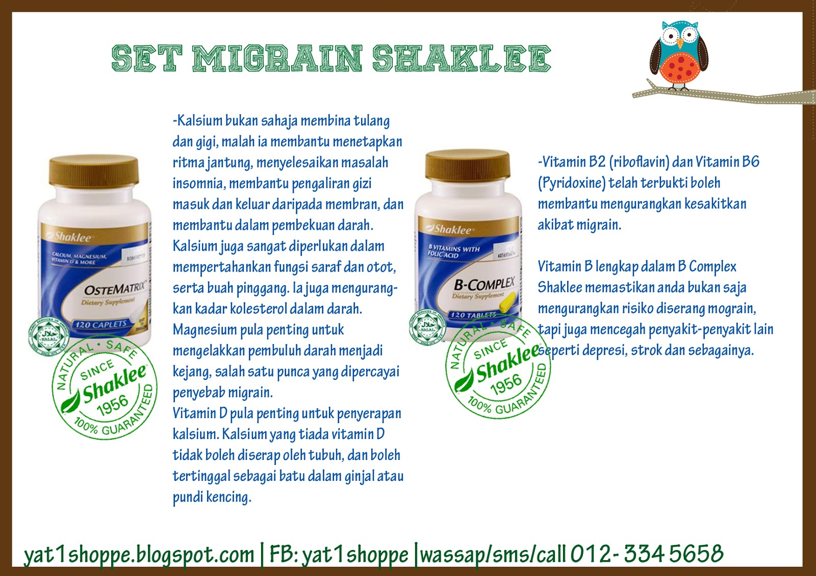 Kafein Haid Your 1 Stop Beauty And Health Care Center Set Migrain Shaklee
