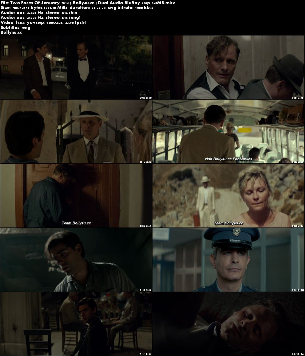 Two Faces Of January 2014 BluRay 750MB Hindi Dual Audio 720p Download