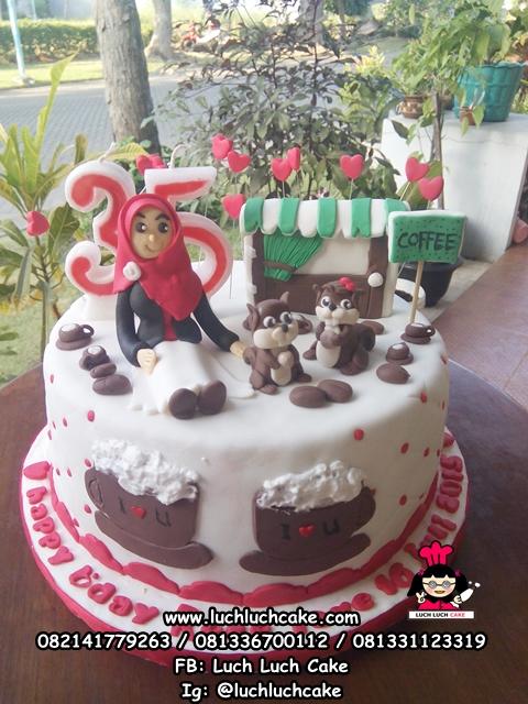 Kue Tart Ulang Tahun Tema Tupai