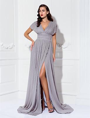 vestidos de gala largos con manga corta