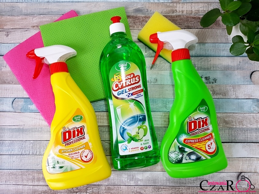Gold Cytrus i Dix Professional - preparaty ułatwiające sprzątanie w kuchni
