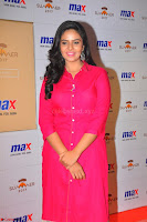 Sree Mukhi in Pink Kurti looks beautiful at Meet and Greet Session at Max Store (54).JPG