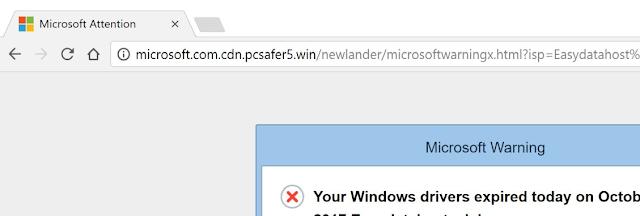 Microsoft.com.cdn.pcsafer5.win (Falsas alertas de Microsoft)