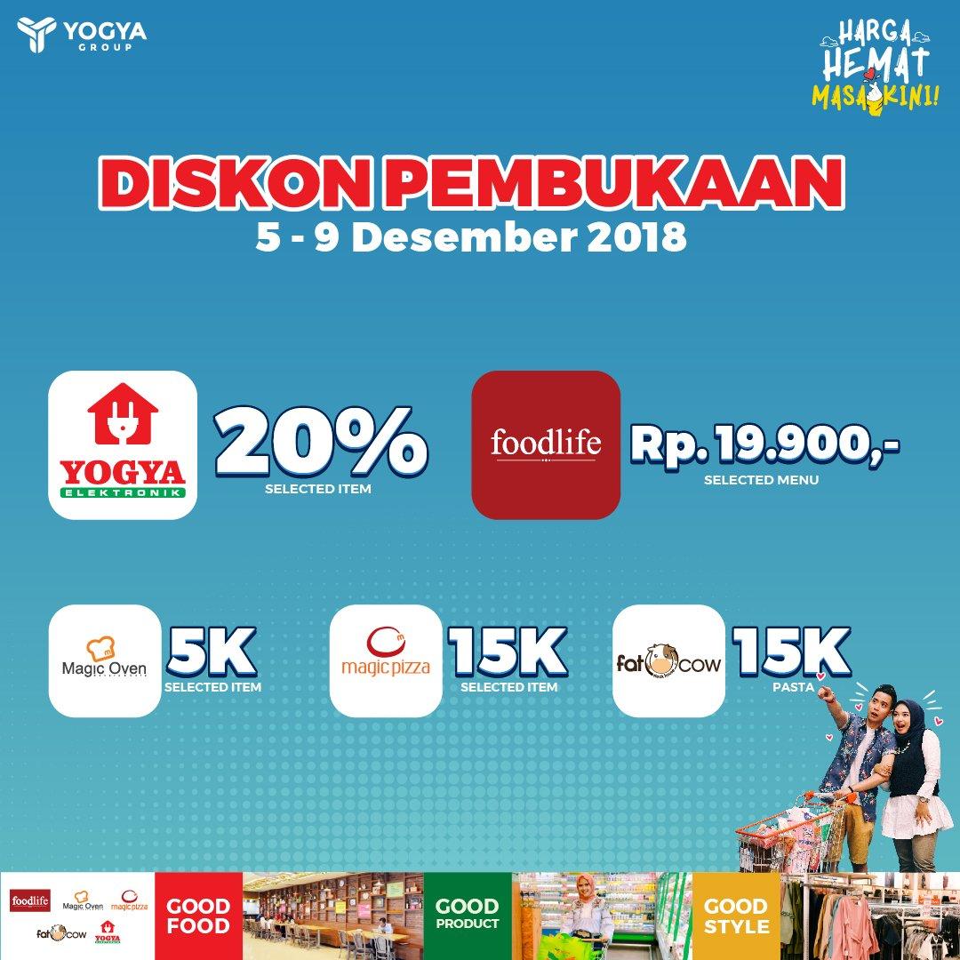 Yogya - Promo Diskon Pembukaan Yogya Sumbersari Junction (s.d 09 Des 2018)