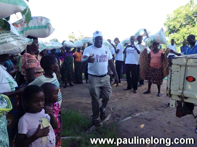 Pauline Long Show Delivers food to 100 Families in Malawi