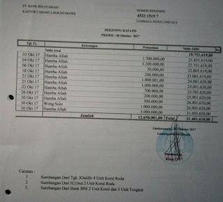 Laporang Keuangan & Foto Dokumen Kegiatan LPD Bulan Oktober  2017