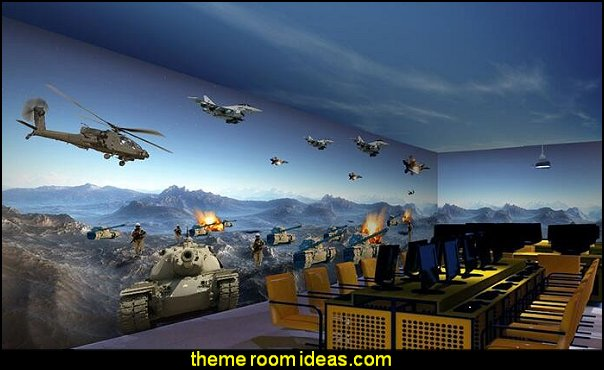 Aircraft Tanks Battlefield Large Mural  Army Theme bedrooms - Military bedrooms camouflage decorating  - Army Room Decor - Marines decor boys army rooms - Airforce Rooms - camo themed rooms - Uncle Sam Military home decor - military aircraft bedroom decorating ideas - boys army bedroom ideas - Military Soldier - Navy themed decorating
