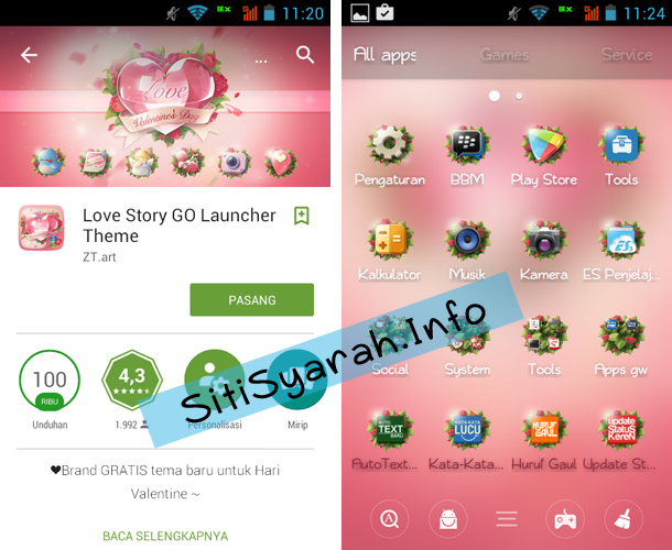 Tema Valentine Android Terbaru