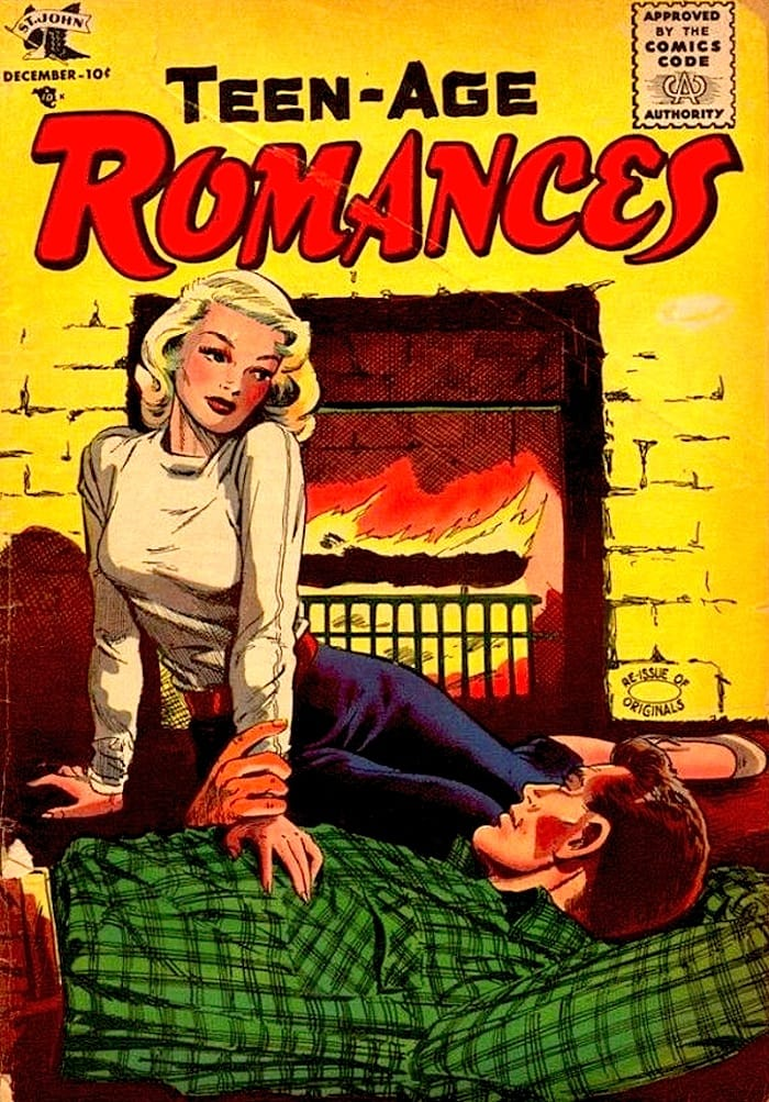 Teen-age Romances #45 comic book cover by Matt Baker circa 1950s