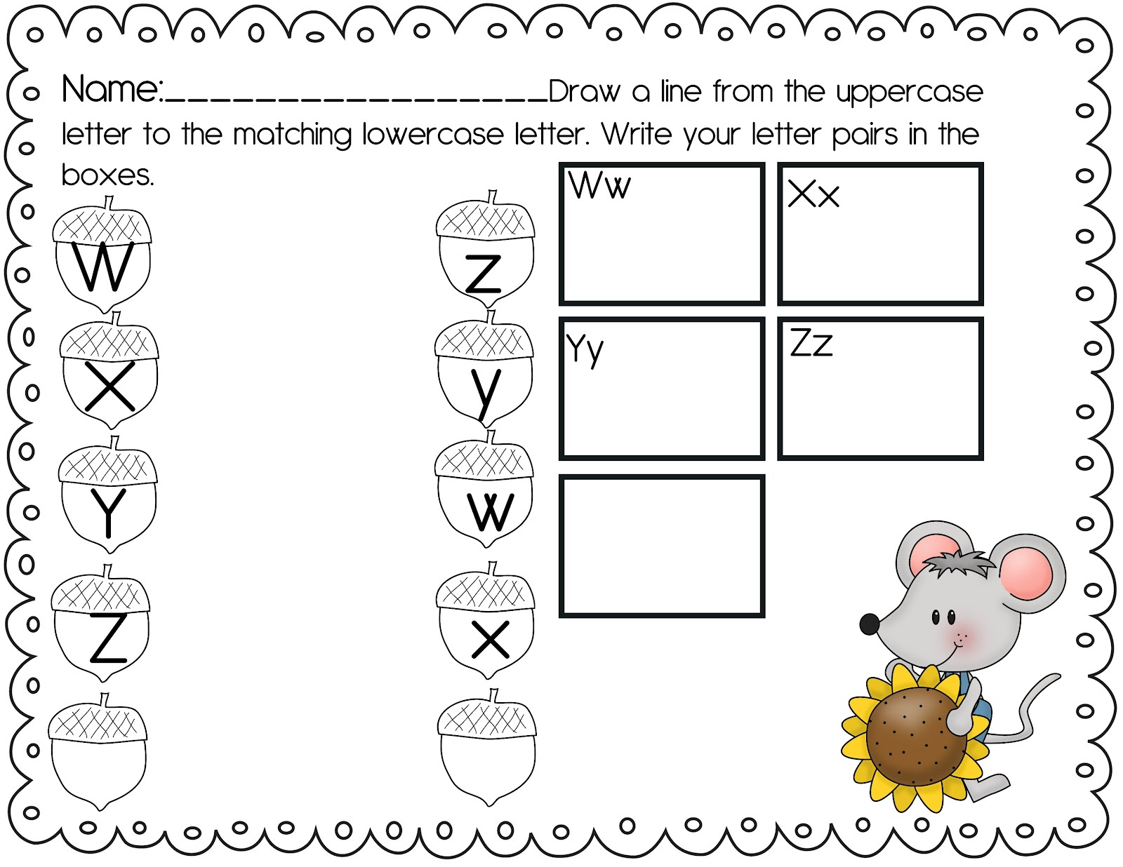 The Crazy Pre-K Classroom: Fall Freebie! Fall Themed ABC