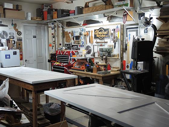Workshop with Sliding Barn Doors