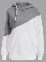 Jumper Two Tone Plus Size Hoodie - Gray