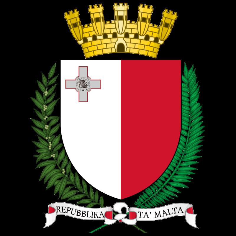 Logo Gambar Lambang Simbol Negara Malta PNG JPG ukuran 800 px