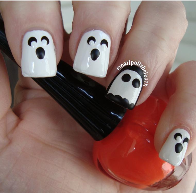 Polish Sleuth : Halloween Nail Art Challenge - 13 Ghosts