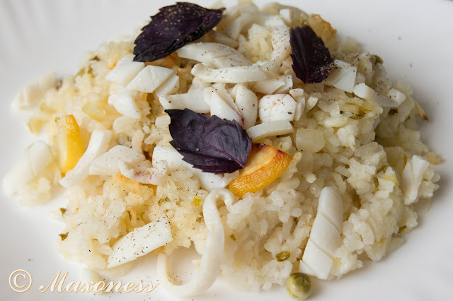 Рис с кальмарами и лимоном от Алена Дюкасса