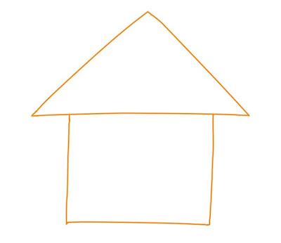 アイコン 「自宅」 (作: 塚原 美樹) ~ 家本体を描く