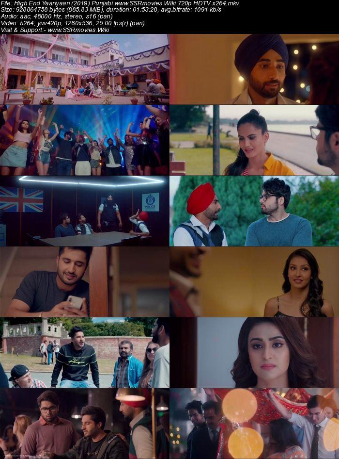 High End Yaariyaan (2019) Punjabi 720p HDTV x264 850MB