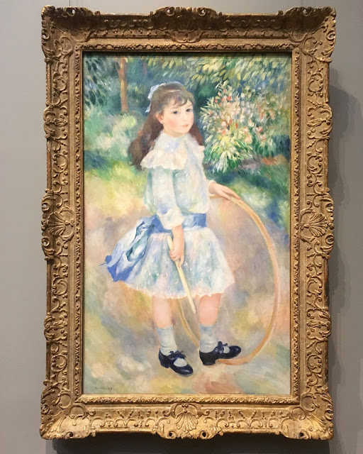 Renoir, Girl with a Hoop, 1885, oil on canvas