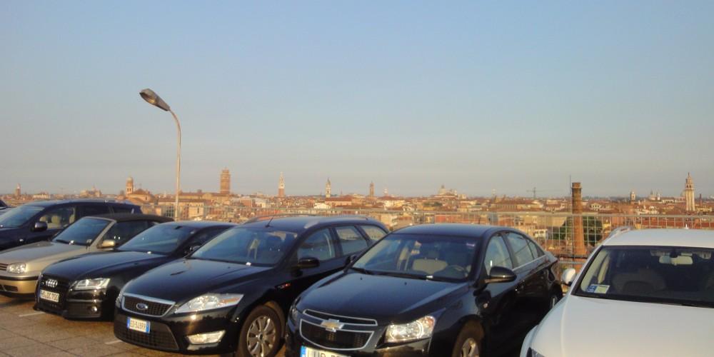 Blick auf Venedig von der Garage San Marco aus