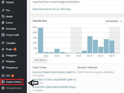 Cara memasukan iklan di plugin instant article wordpress