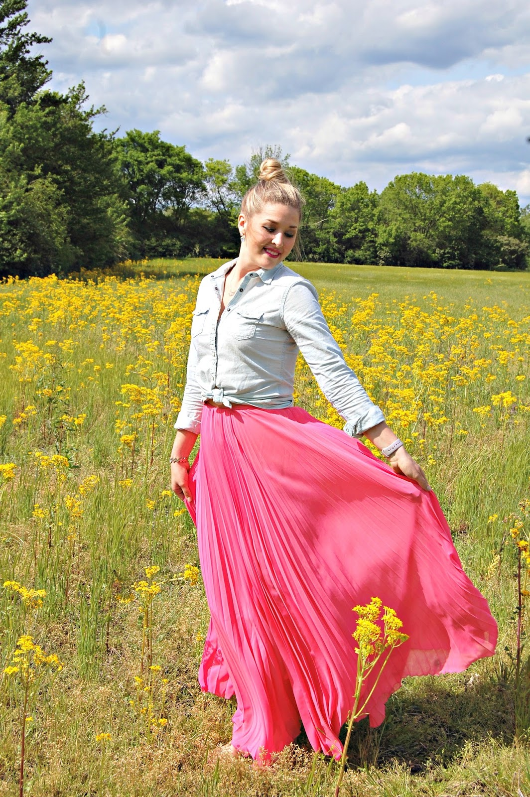 perfectly pleated maxi skirt style the