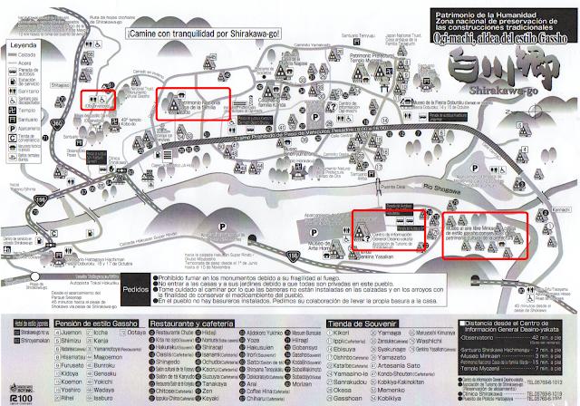 mapa descargar Shirakawa go