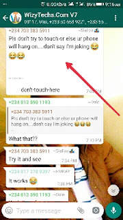 How to crash whatsapp