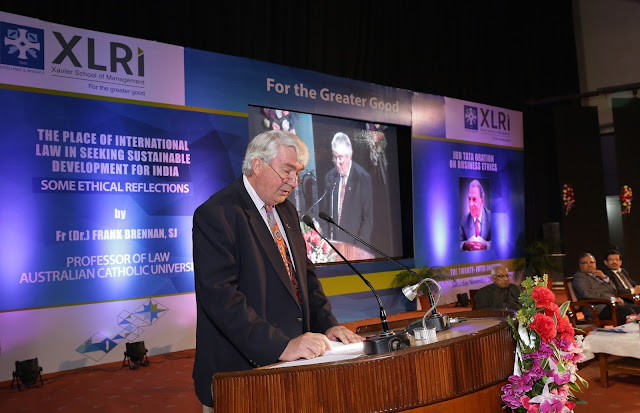 Fr. (Dr.) Frank Brennan, S.J. Delivers '25th Annual JRD Tata Ethics Oration on Business Ethics' at XLRI