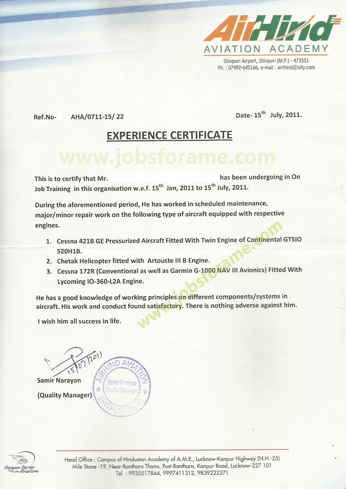OJT+Certificate+2 Ojt Application Letter Sample For Airline on sample recommendation, intent for, trinidad cover, request school for,