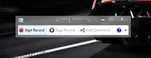 Record Windows problems using PSR