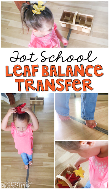 Learning is more fun when it involves movement! This leaf balance transfer activity is so much fun. Great for tot school, preschool, or even kindergarten!