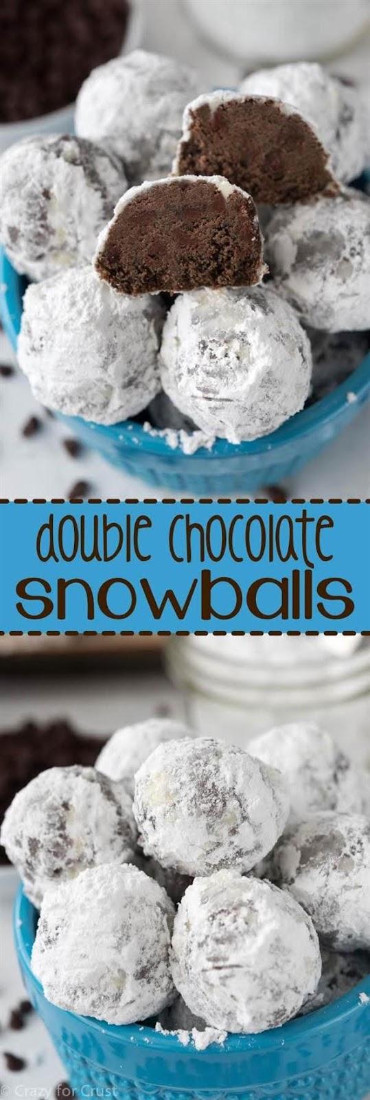 Double Chocolate Snowballs Cookies #Doublechoco #Chocolateitaly #chocolatecookies #Snowballcookies #Bescookies #Dessert #Bestdessert #Americandessert #Italiandessert
