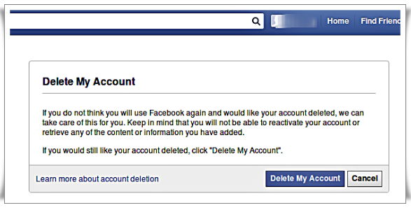 How to delete facebook account forever that bad penguin how to delete facebook account forever ccuart Choice Image