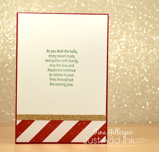 scissorspapercard, Stampin' Up!, Just Add Ink, Painted Harvest, Watercolour Christmas, Be Merry DSP