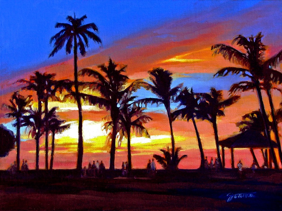 """A Painting, A Moment: """"Paradise View""""--Painting of Sunset ..."""