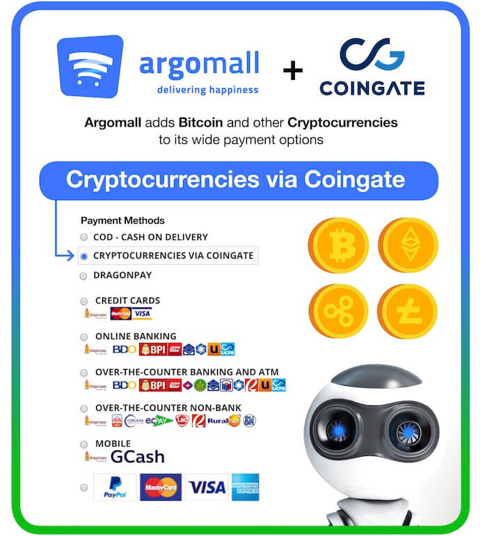 Argomall adds Bitcoin and other Cryptocurrencies as Payment Option