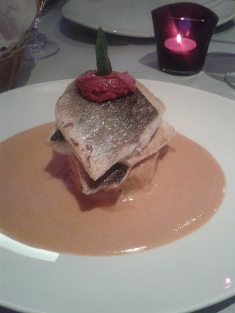 Tiffin Seabass at The Purple Poppadom Restaurant, Cardiff