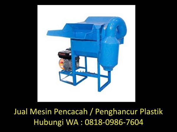 merakit mesin pencacah plastik di bandung