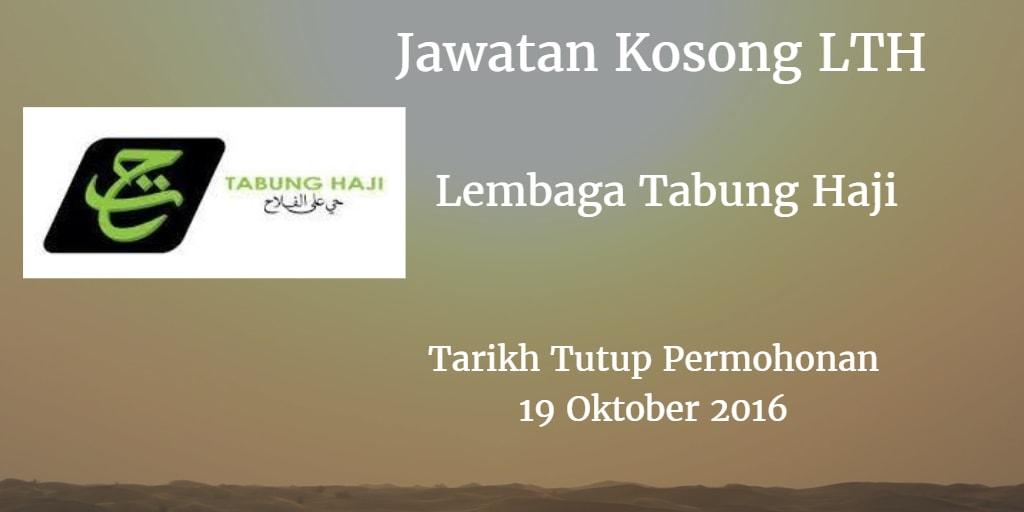 Jawatan Kosong LTH 19 Oktober 2016