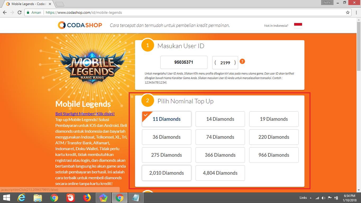 Top Up Mobile Legends Dengan Pulsa Infotekpedia Topup 220 Diamonds Legend Screenshot